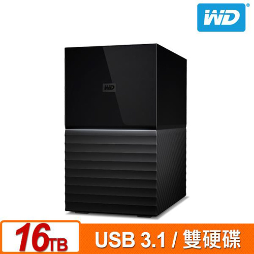 WD My Book Duo 16TB(8TBx2) USB3.1 3.5吋 雙硬碟外接儲存裝置