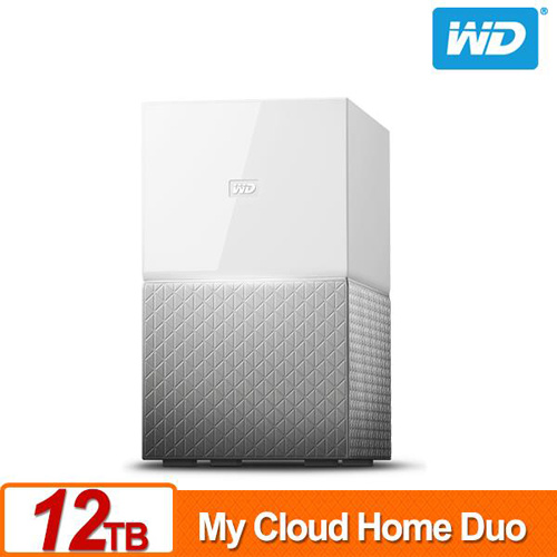 WD My Cloud Home Duo 12TB(6TBx2) 3.5吋 NAS 雲端儲存系統