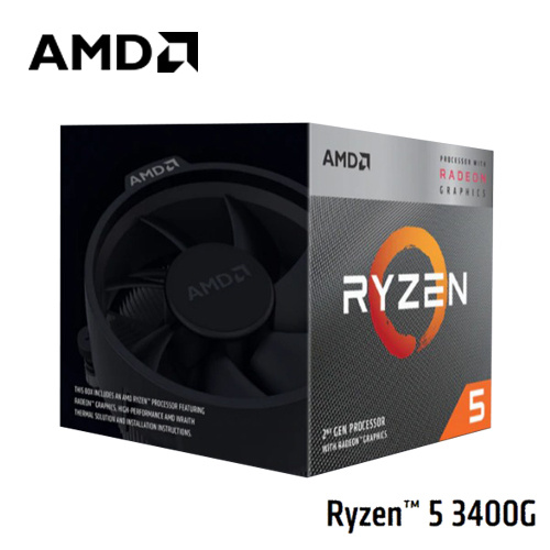 AMD Ryzen 5 3400G 3.7GHz CPU 四核心處理器