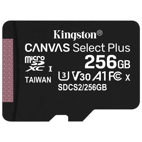 Kingston 金士頓 Canvas Select Plus microSDXC 256GB 記憶卡 (SDCS2/256GB)