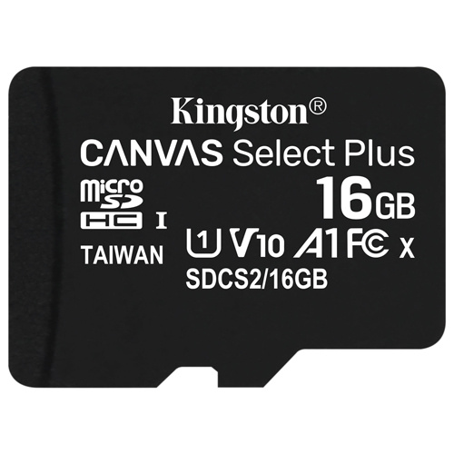 Kingston 金士頓  Canvas Select Plus microSDHC 16GB 記憶卡 (SDCS2/16GB)