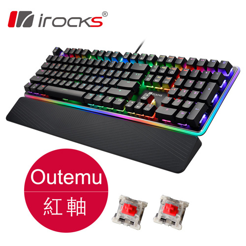 irocks K61M RGB 背光機械式鍵盤 紅軸