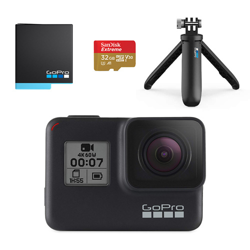 GoPro HERO7 BLACK 假日組合 CHDRB-701 (內含Shorty手持桿+電池及32G記憶卡)