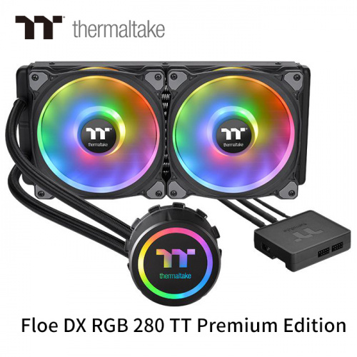 Thermaltake 曜越 Floe DX RGB 280 TT Premium Edition 280mm 一體式水冷 散熱器 CL-W257-PL14SW-A