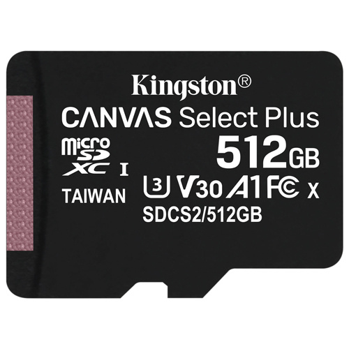 Kingston 金士頓 Canvas Select Plus microSDXC 512GB 記憶卡 (SDCS2/512GB)