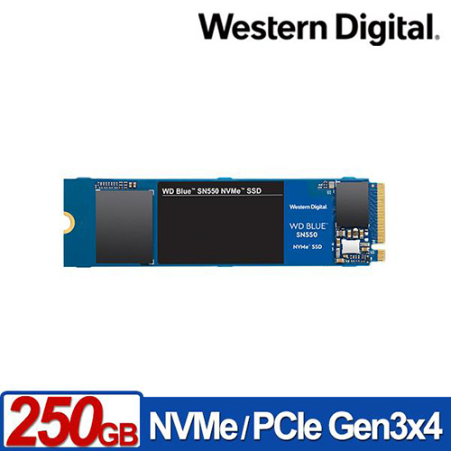 WD 藍標 BLUE SN550 250GB 3D NAND M.2 PCI-E SSD 固態硬碟