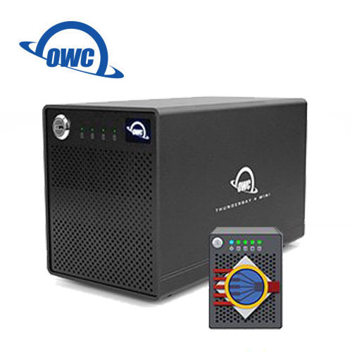 OWC ThunderBay 4 mini + SOFTRAID 5 高速 Thunderbolt2 四槽 2.5 吋 硬碟 SSD 外接盒 雙Thunderbolt2 Ports (OWCTB4MS......