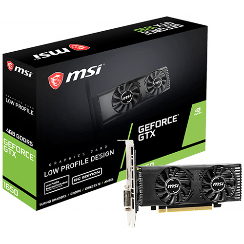 MSI 微星 GeForce GTX 1650 4GT LP OC 顯示卡