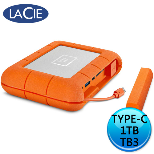 LaCie Rugged BOSS SSD 1T USB-C Thunderbolt 外接式固態硬碟 STJB1000800