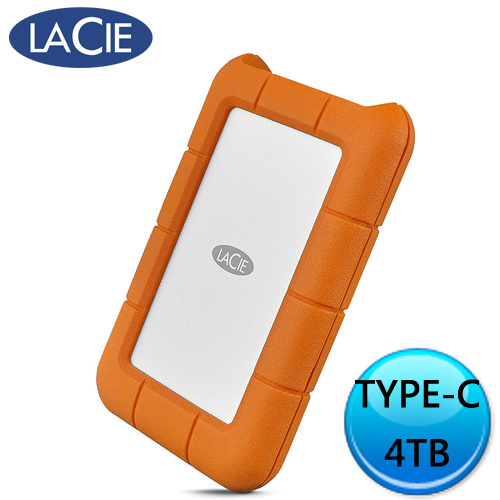 LaCie Mobile Storage Rugged USB-C 4T 外接式硬碟 STFR4000800