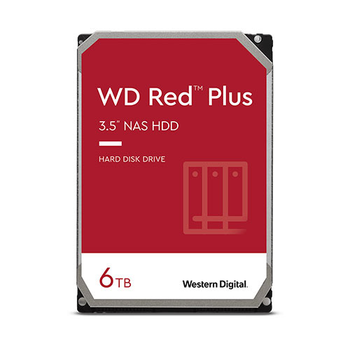 威騰 WD 紅標Plus 6TB 3.5吋 SATA3 NAS硬碟 WD60EFRX