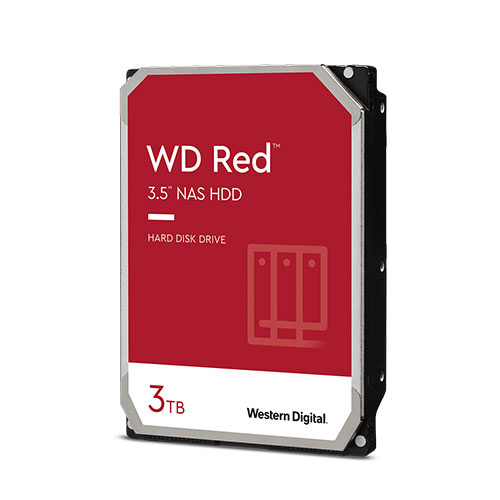 WD 3T 紅標 3.5吋 快取256M 轉速5400RPM 內接硬碟 WD30EFAX