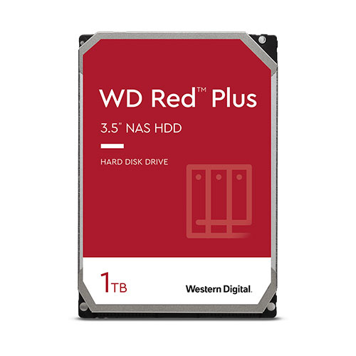 WD 1T B 3.5吋 SATA3 紅標Plus NAS專用硬碟 WD10EFRX